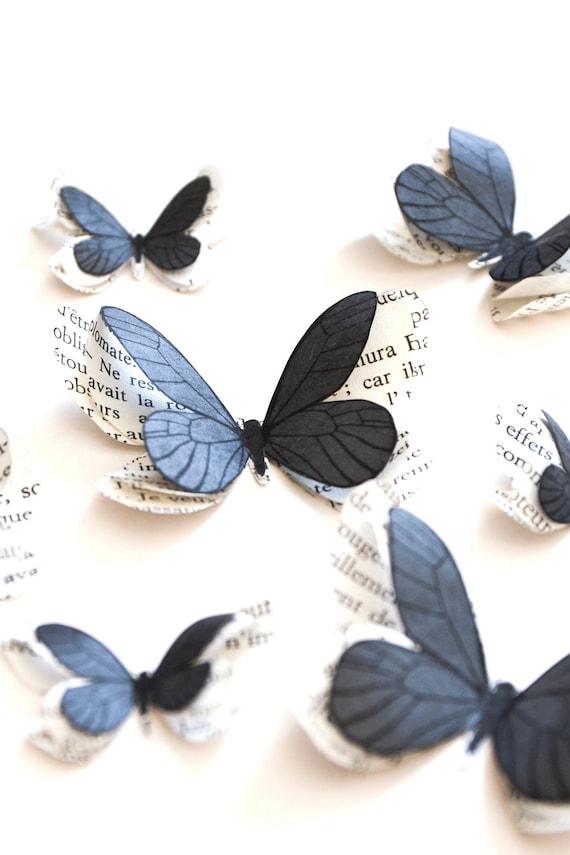 papillons en papier stickers papillon 3d decoration de table etsy. Black Bedroom Furniture Sets. Home Design Ideas