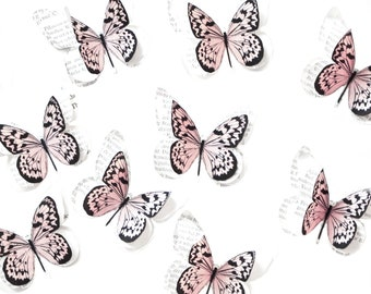 Paper butterfly decorations, enchanted forest wedding table decorations, woodland nursery decor, princess birthday party props
