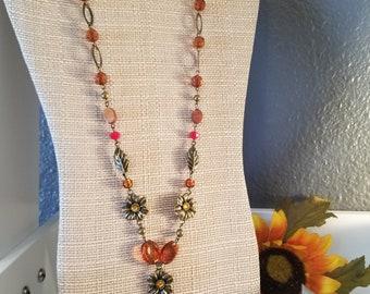 Copper Birds Necklace
