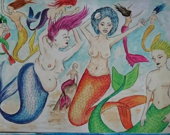 BoPo Mermaids Print
