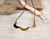 3 Delicate Scales Necklace