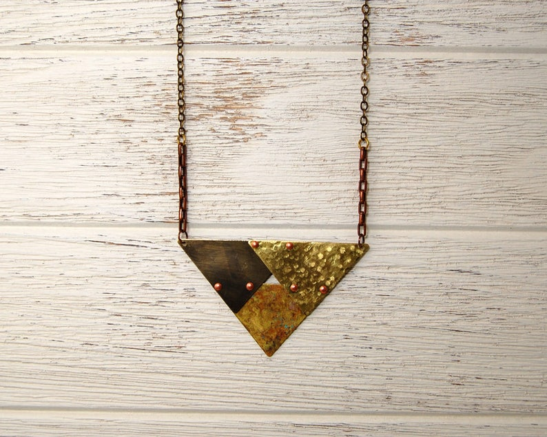 Triangles Repeating Necklace image 0