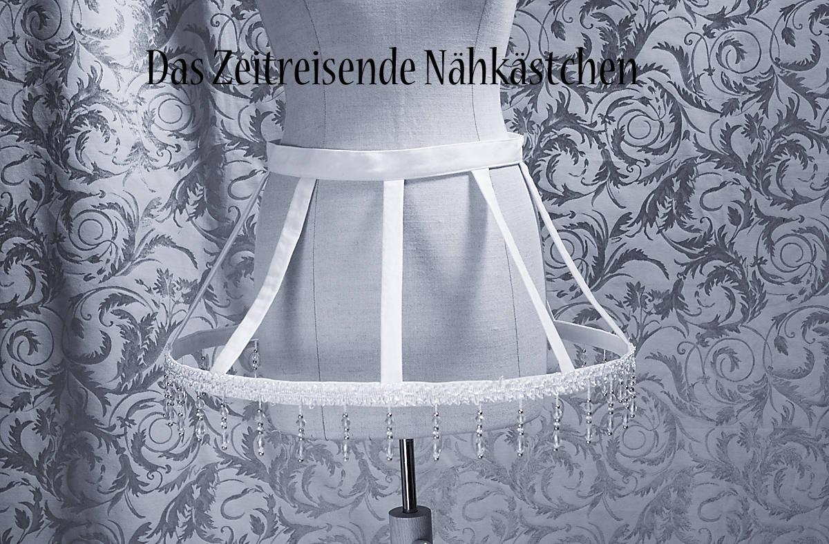Short hoop skirt cage hoop skirt Crinoline white peral
