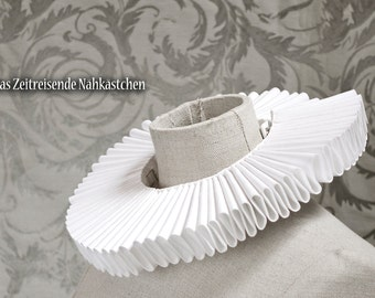 Elizabethan Ruff, Gran Gola, Renaissance Collar, white