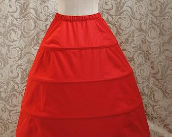 Hoop skirt / Crinoline underskirt, romantic era, gothic - made to measure - all colours