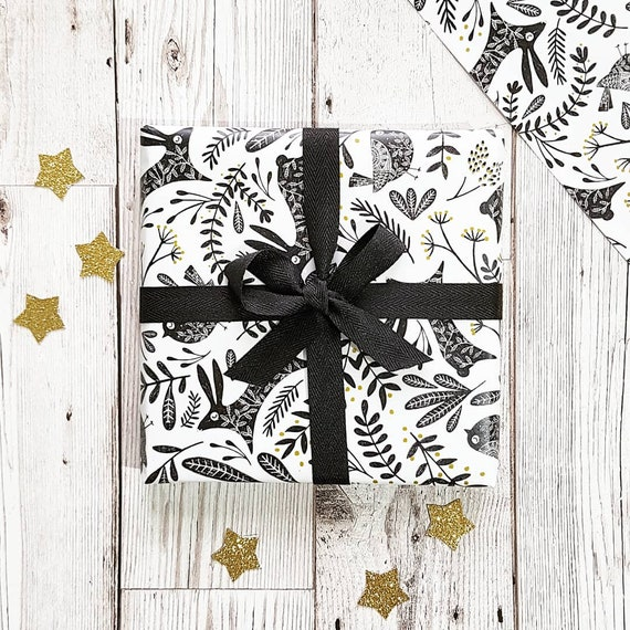 Winter Woodland Christmas Wrapping Paper, Christmas Gift Wrap, Winter Woodland Gift Wrap