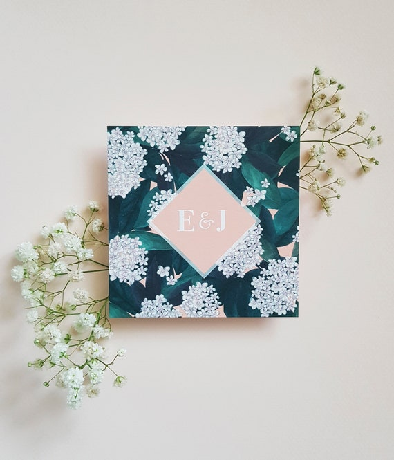Blossom Save The Date, Floral Save The Dates, Botanical Wedding Stationery, Handmade Wedding Invites, Wedding Stationery