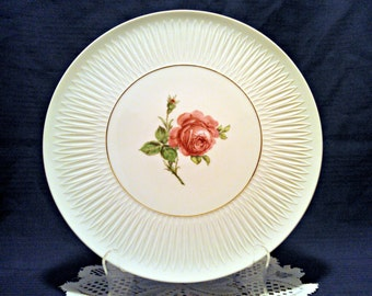 Vintage Platter by Lorenz Hutschenreuther, Rose Chop Plate, Crafted at Werk Tirschenreuth, Serving Plate, Mid Century, Circa 1960s