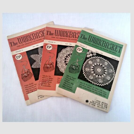 Vintage Craft Magazines 1954 Workbasket Magazine Lot 3 Etsy