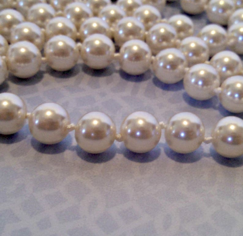 6274cc746 Vintage Necklace Glass Pearl 50 Inch Flapper Necklace Hand   Etsy