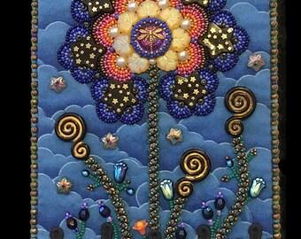 Bead Embroidery Kit: Night Garden