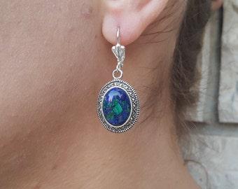 BIG Earring Gifts for her Lapis Earrings Gemstone Earring Rose Quartz Earring LARGE EARRINGS Turquoise Earring Multicolor Earrings