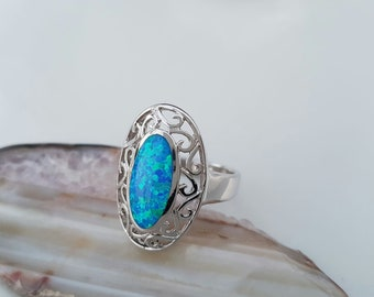 Silver opla ring