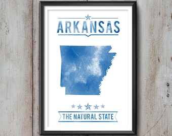 ARKANSAS State Typography Print, Typography Poster, Arkansas Poster, Arkansas Art, Arkansas Gift, Arkansas Decor, Arkansas Love, Arkansas