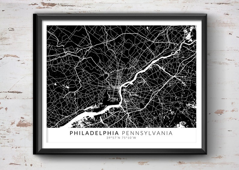 PHILADELPHIA Map with Coordinates, Philadelphia Map, Map Art, Map Print, on map crafts, map google search, map japan, map of the dolls island, map nautical charts, map skill builder, art design, map painting, map dress, map united states history, map of documents, map mural, map of united states area code, map design, map china, map furniture, photography art, map south florida fair, architectural art, map australia, map of the mind, commercial art, map india, map wall paper,