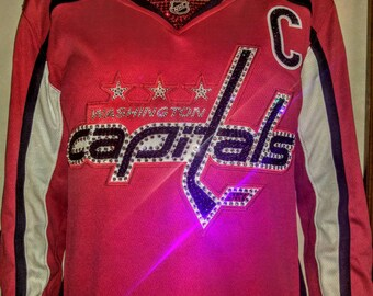 3bdb6252e NHL Washington Capitals Swarovski Crystal Blinged Out Jersey  Read  Description  (Jersey Not Included)