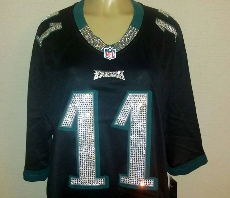 new style be6a5 7f5fb Philadelphia Eagles Swarovski Crystal Blinged Out Jersey *Jersey not  included* (Read Description)