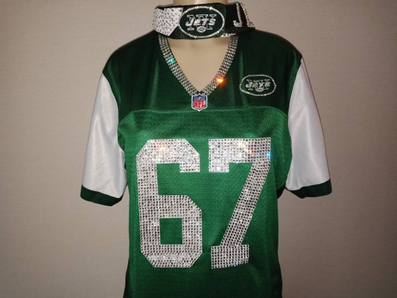49cecad88 NY Jets ProLine Swarovski Crystal Blinged Out Jersey Jersey