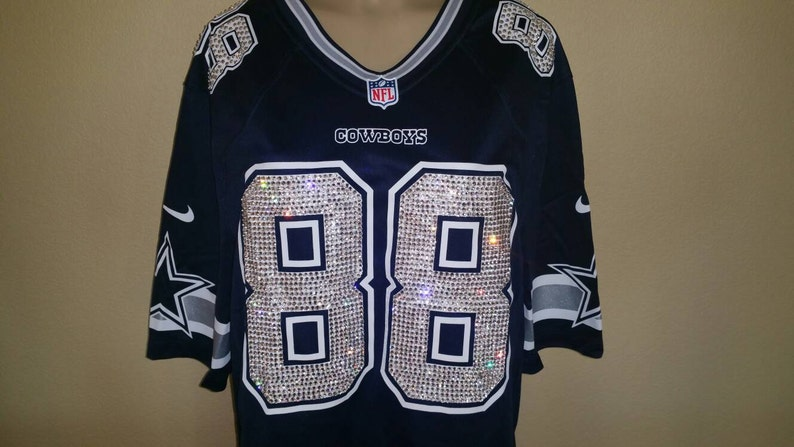 02c940fdc Dallas Cowboys Custom Swarovski Crystal Blinged out jersey.