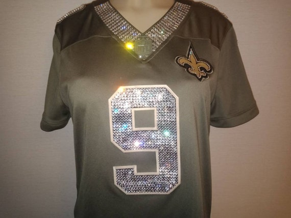 4b035d40e New Orleans Saints Swarovski Crystal Blinged Out Jersey