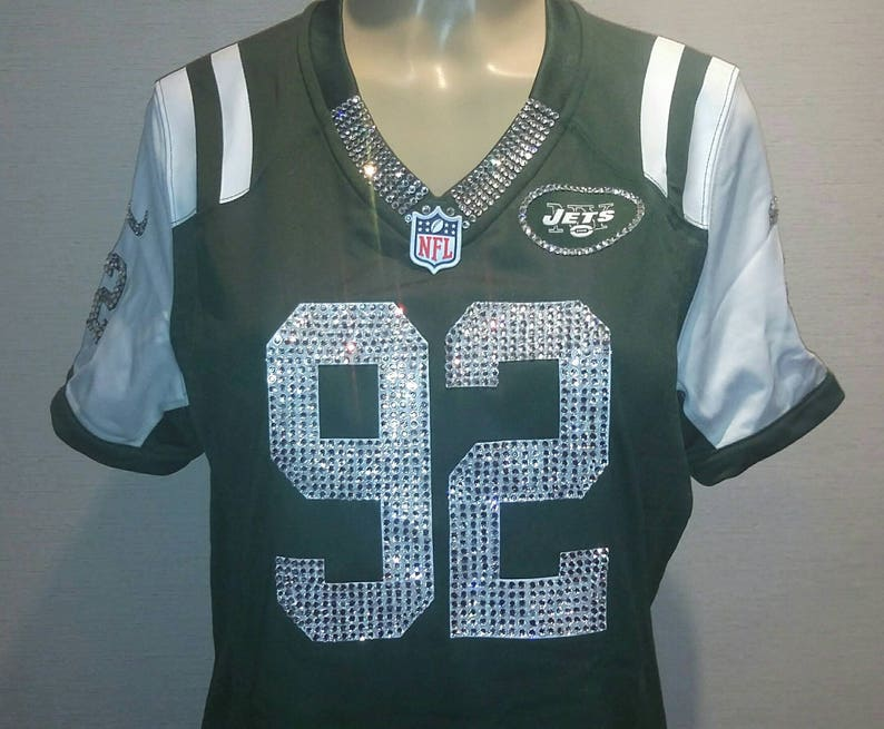 sports shoes 19301 6743c New York Jets Swarovski Crystal Custom Blinged Out Jersey *Jersey not  included* *Read Description*