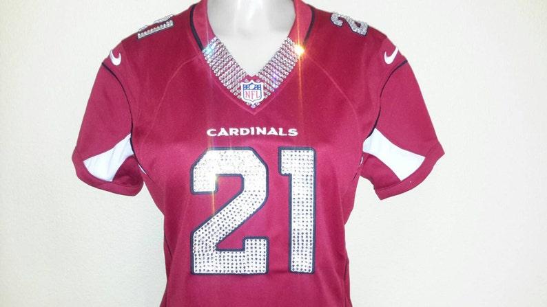 ff13fe1867b7 Arizona Cardinals Swarovski Crystal Custom Blinged Out Jersey