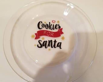 Santa Cookies and Milk