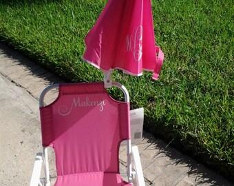 Kid's Beach Chairs, Umbrella Chair, Monogram Chair