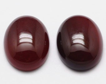 30x22 mm Dark red carnelian gemstone oval cabochon natural polished gem  stone flat back cab agate healing crystals and stones DIY wholesale d6c95fb714309