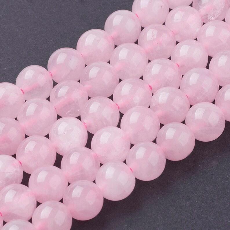 Pcs Gemstones DIY Jewellery Making Crafts Rose Quartz Round Beads 6mm Pink 60