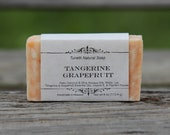 Natural Organic Tangerine-Grapefruit Soap - All Natural Soap, Handmade Soap, Homemade Soap, Handcrafted Soap