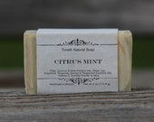 Natural Organic Citrus Mint Soap - All Natural Soap, Handmade Soap, Homemade Soap, Handcrafted Soap