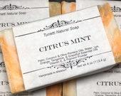 Natural Organic Citrus Mint Soap- Handmade Natural Soap