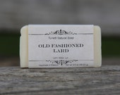 Natural Organic Old Fashioned Lard Soap - All Natural Soap, Handmade Soap, Homemade Soap, Handcrafted Soap (3.5 OUNCE)