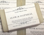 Natural Organic Aloe & Oatmeal Soap- Handmade Natural Soap