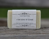 Coconut Lime Soap - All Natural Soap, Handmade Soap, Homemade Soap, Handcrafted Soap