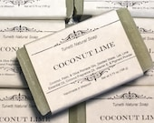 Natural Organic Coconut Lime Soap- Handmade Natural Soap