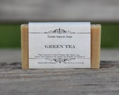 Green Tea Soap - All Natural Soap, Handmade Soap, Homemade Soap, Handcrafted Soap