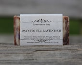 Natural Organic Patchouli & Lavender Soap - All Natural Soap, Handmade Soap, Homemade Soap, Handcrafted Soap