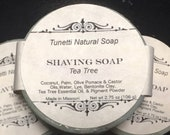 All Natural Shaving Soap - Tea Tree, Handmade soap, Natural Soap, Homemade Soap, Cold Process Soap