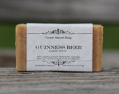 Guinness Beer Soap Bar with Leather Scent - All Natural Soap, Handmade Soap, Homemade Soap, Handcrafted Soap