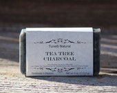 Natural Organic Tea Tree Charcoal Soap - Handmade Natural Soap
