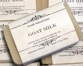 Natural Organic Goat Milk Soap - Handmade Natural Soap