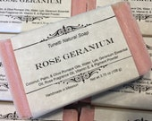 Rose Geranium Soap- Handmade Natural Soap