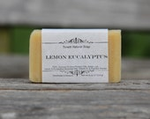 Natural Organic Lemon Eucalyptus Soap - All Natural Soap, Handmade Soap, Homemade Soap, Handcrafted Soap