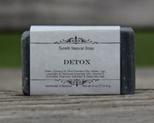 Natural Organic Detox Soap (activated charcoal and sea salt) - Handmade Natural Soap