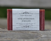 Strawberry Fields Soap - All Natural Soap, Handmade Soap, Homemade Soap, Handcrafted Soap
