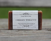 Cherry Tobacco Soap - All Natural Soap, Handmade Soap, Homemade Soap, Handcrafted Soap