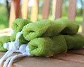 Olive Green Mesh Exfoliating Soap Saver