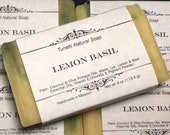 Lemon Basil Soap- Handmad...
